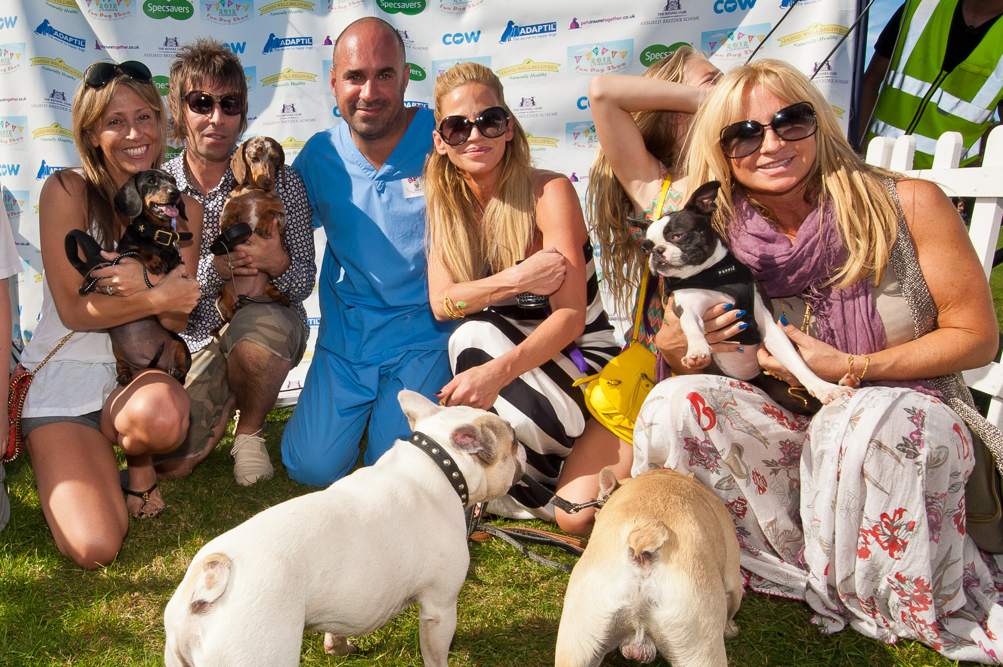 Stars including Liam Gallagher, Sarah Harding, Ricky Gervais, Meg Matthews and Brian May come out to support Pup Aid at celebrity judged fun dog show held to raise awareness of Puppy Farming. www.Pupaid.org Primrose Hill, London, UK Saturday 8th September