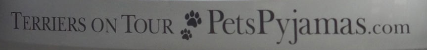 Car bumper with Terriers on Tour logo
