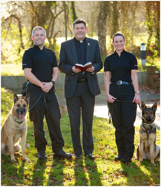 Dog handler wedding 2