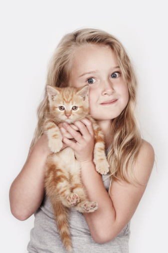 adorable kids with pets
